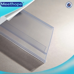 Clear PVC Shelf Price Label Holder